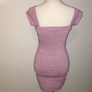 Forever 21 Dresses - Forever 21 Sparkly Lilac Bandage Bodycon Dress